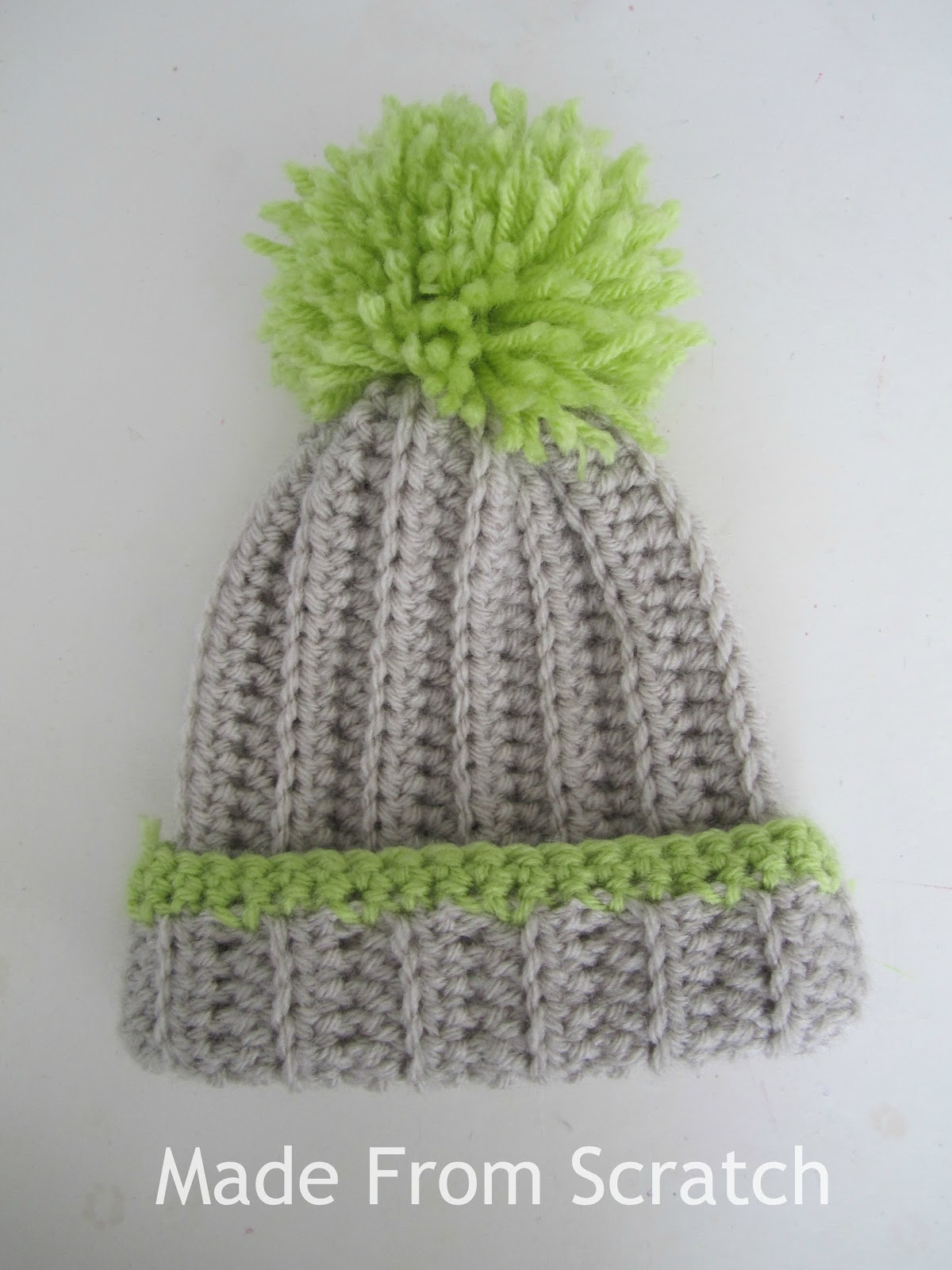 Crochet Baby Hat Pattern With Pom Pom : Little Bird With a French Fry: Slouchy pom pom beanie ...