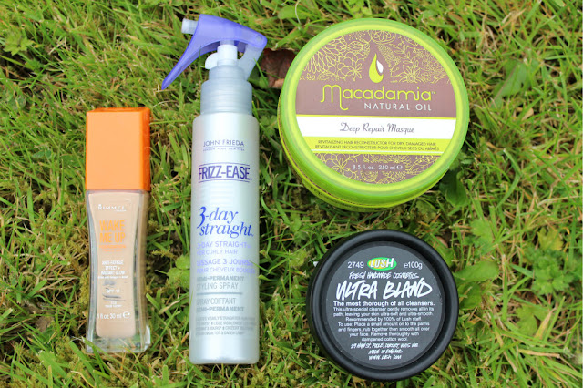 Rimmel Wake Me Up Foundation, Frizz-ease 3 Day Straight, Lush Ultra bland, Macadamia Deep Repair Masque