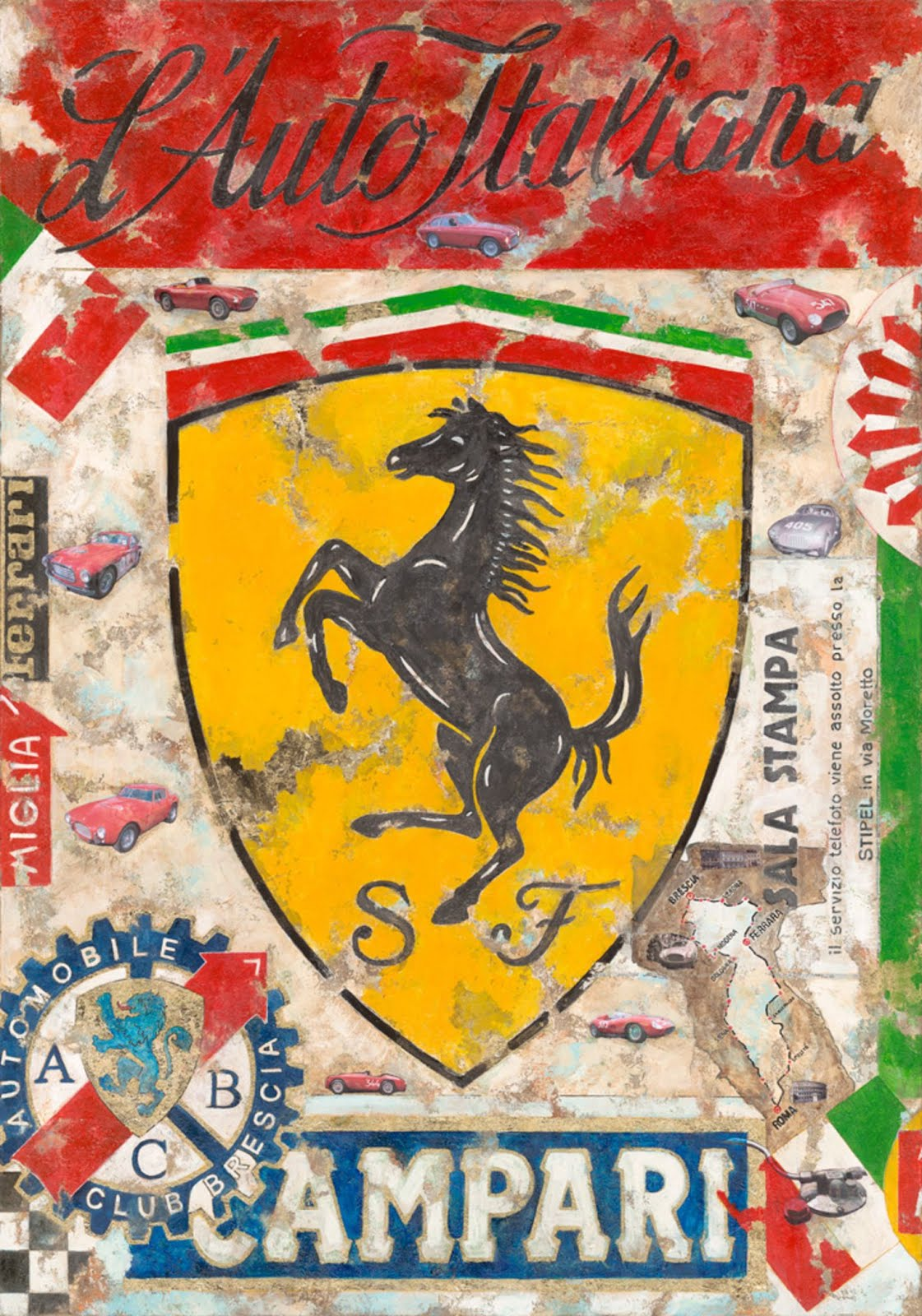 Ferrari Italia Canvas