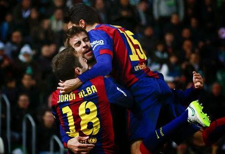 Liga Spanyol : Elche 0-6 Barcelona