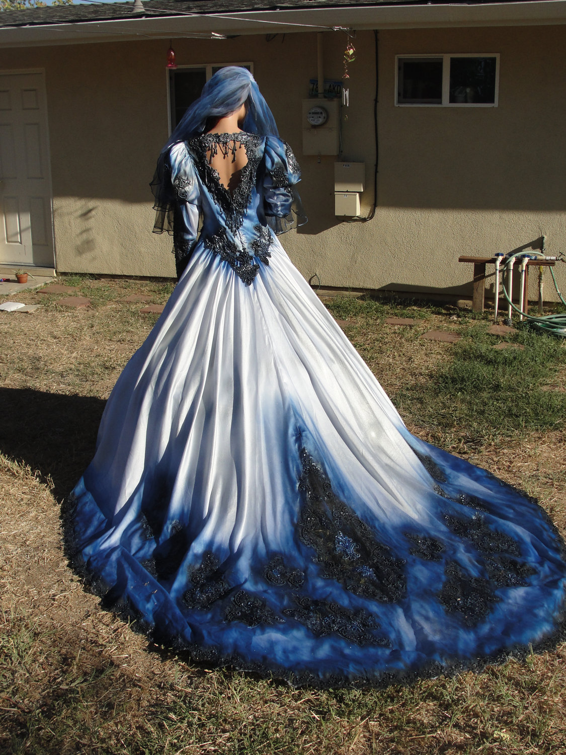 Blue Gothic Wedding Dresses Viewing Gallery