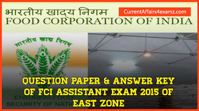 FCI Assistant Question Paper 2015