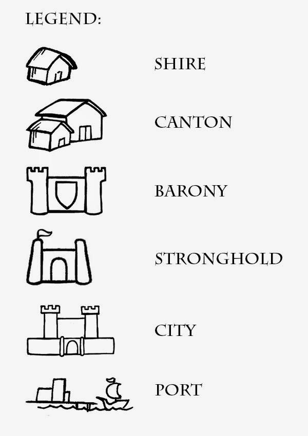 Ealdormerean Cartographers Guild Symbols