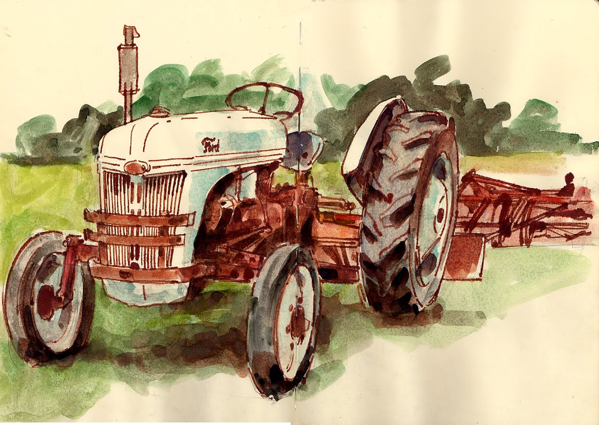 Old Ford Tractors : Old ford tractor urban sketchers