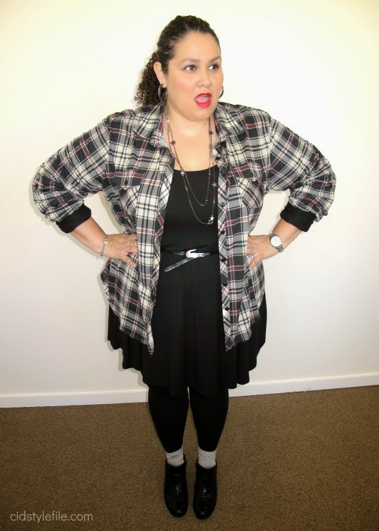plus size blogger, plus size fashion, plaid shirt, untamed style, ootd,