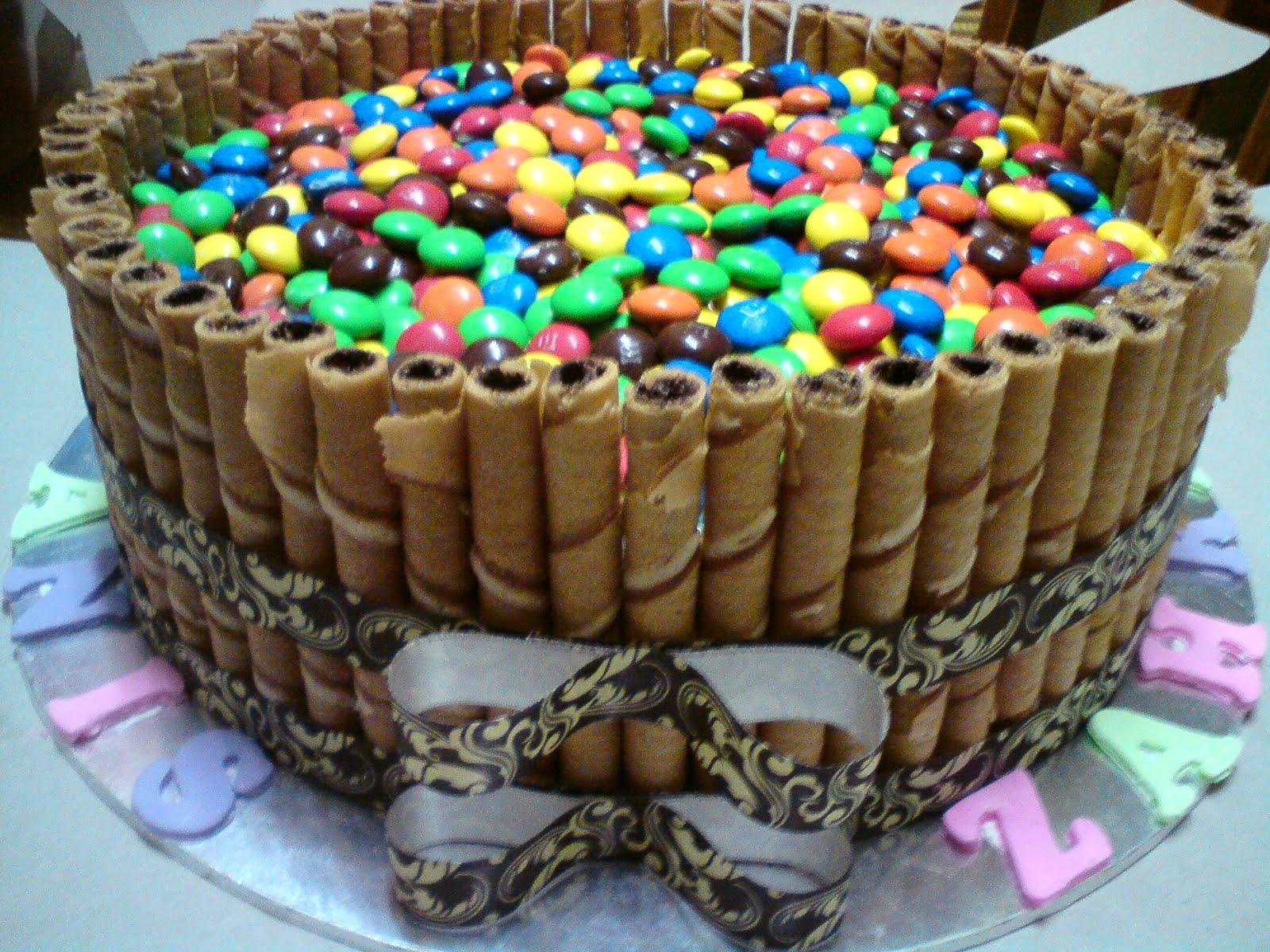 Kakchikyam M Amp M Chocolate Moist Birthday Cake For Anis
