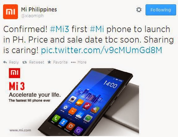 Xiaomi Mi3, First Mi Phone To Arrive in the Country