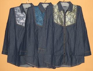 Blus jeans brokat