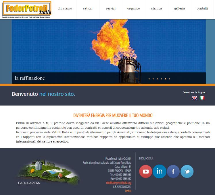 Federpetroli Italia: nuovo sito ed un abito più elegante