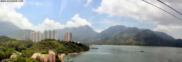 Vistas desde el teleférico de Lantau