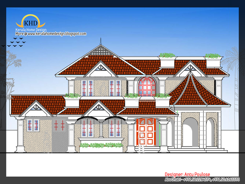 D Elevation With Plan : June kerala home design and floor plans