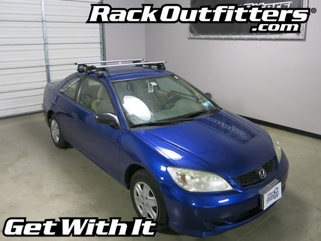 rack outfitters honda civic 2 dr coupe thule rapid. Black Bedroom Furniture Sets. Home Design Ideas