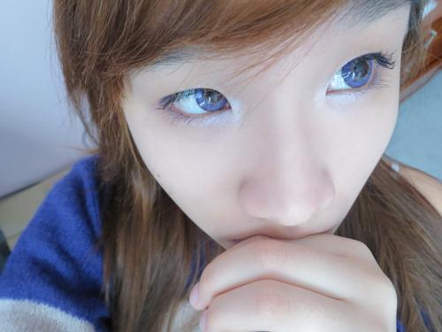 Big eyes lenses - Barbie Puffy 3 Tones Violet