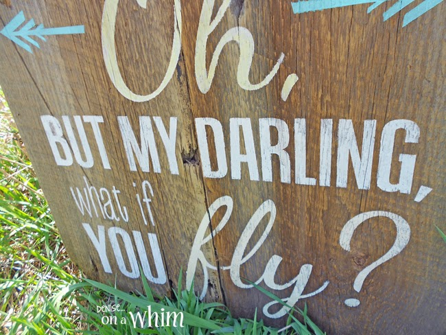 3 Pretty Barnwood Signs from Denise on a Whim