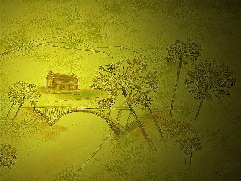 landscape illustration art prints available