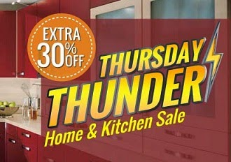 Thursday Thunder: Flat 30% Extra Off on Kitchen Cookware & Diningware at HomeShop18 (Hurry!! Limited Coupons)