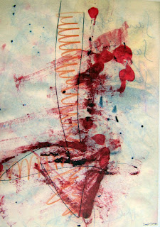 Flecha desangrada - Dibujo de Joaquín Sabina
