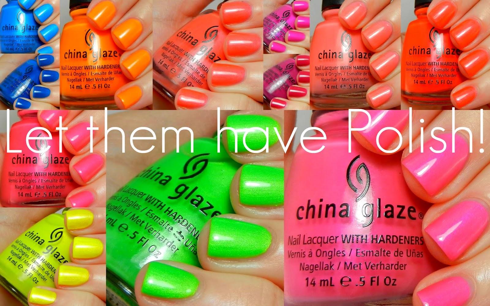 China Glaze Summer Neons 2012 Swactches
