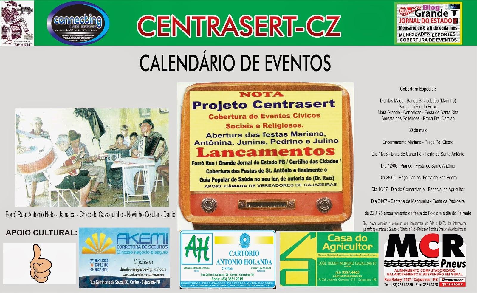 GRANDE JORNAL DO ESTADO  PARCERIA  BLOG  CENTRASERT