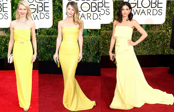 Golden Globes 2015, yellow dress