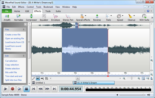 Software Audio Editing Gratis dan Terbaik Untuk Komputer - WavePad 3