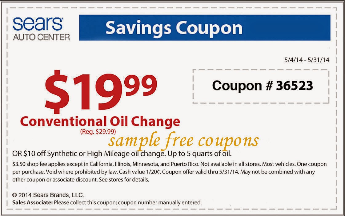 Sears auto center discount coupons