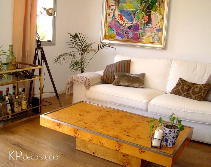 Mesas de centro vintage de madera de raíz de chopo. Diseño años 70. Puro vintage.