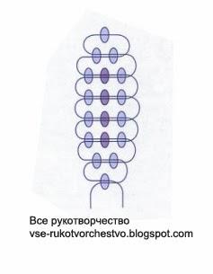Подснежник из бисера схема листа