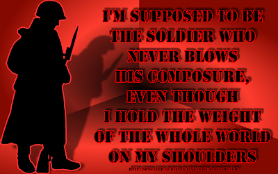 Soldier - Eminem Song Lyric Quote in Text Image