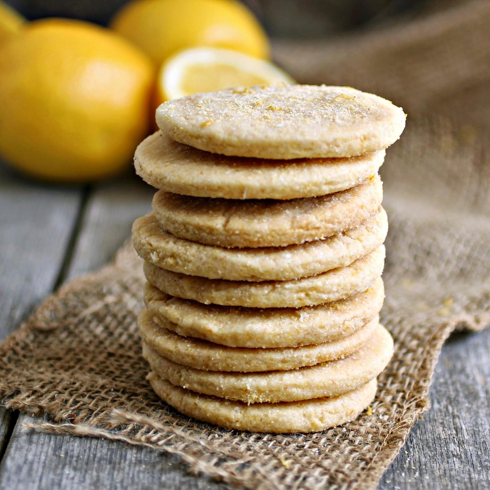 Hungry Couple: Lemon Cornmeal Shortbread Cookies