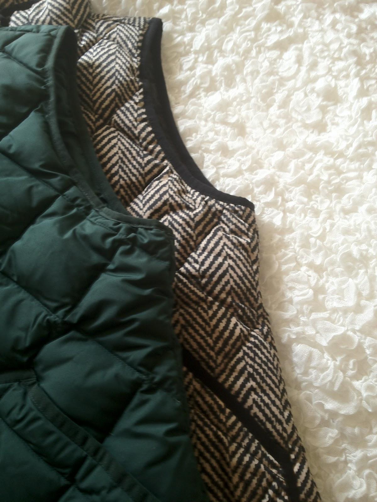 quite sublime: Review: J. Crew Excursion Quilted Vest in Herringbone