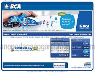 adalah tampilan web klikbca.com
