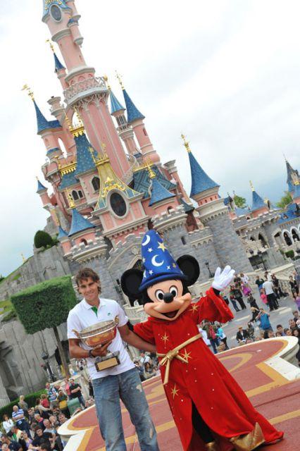 Rafa Nadal y Mickey Mouse