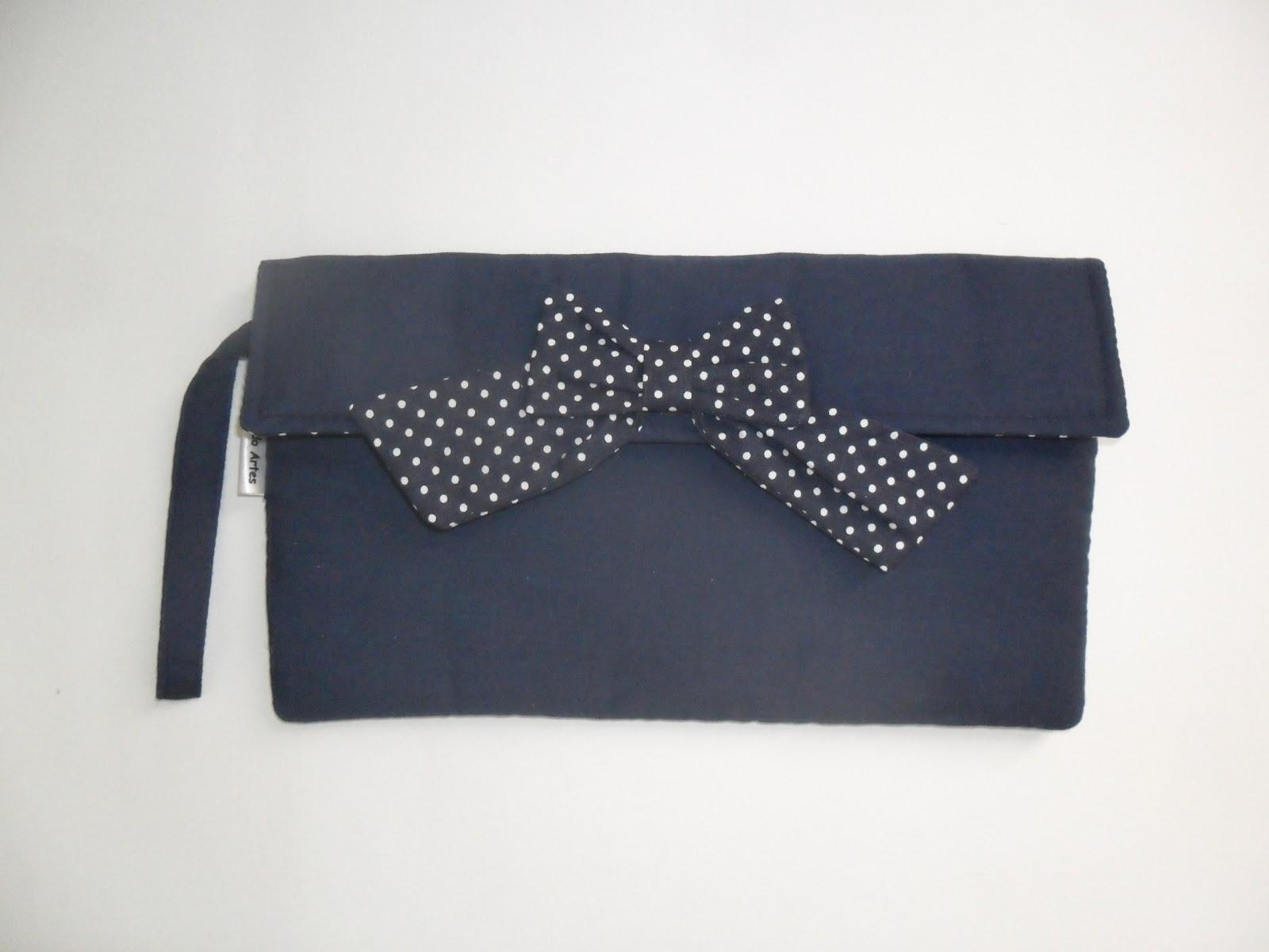 Bolsa De Mao Azul Marinho : Artesanato candido artes bolsa de m?o carteira azul