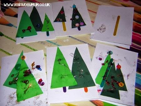 Redirecting for Christmas card christmas tree craft