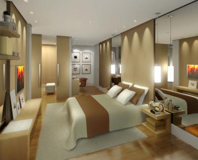 habitación color tierra