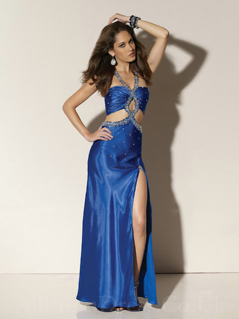 Halter Keyhole Satin Beading Ghetto Gorgeous Prom Dress Images