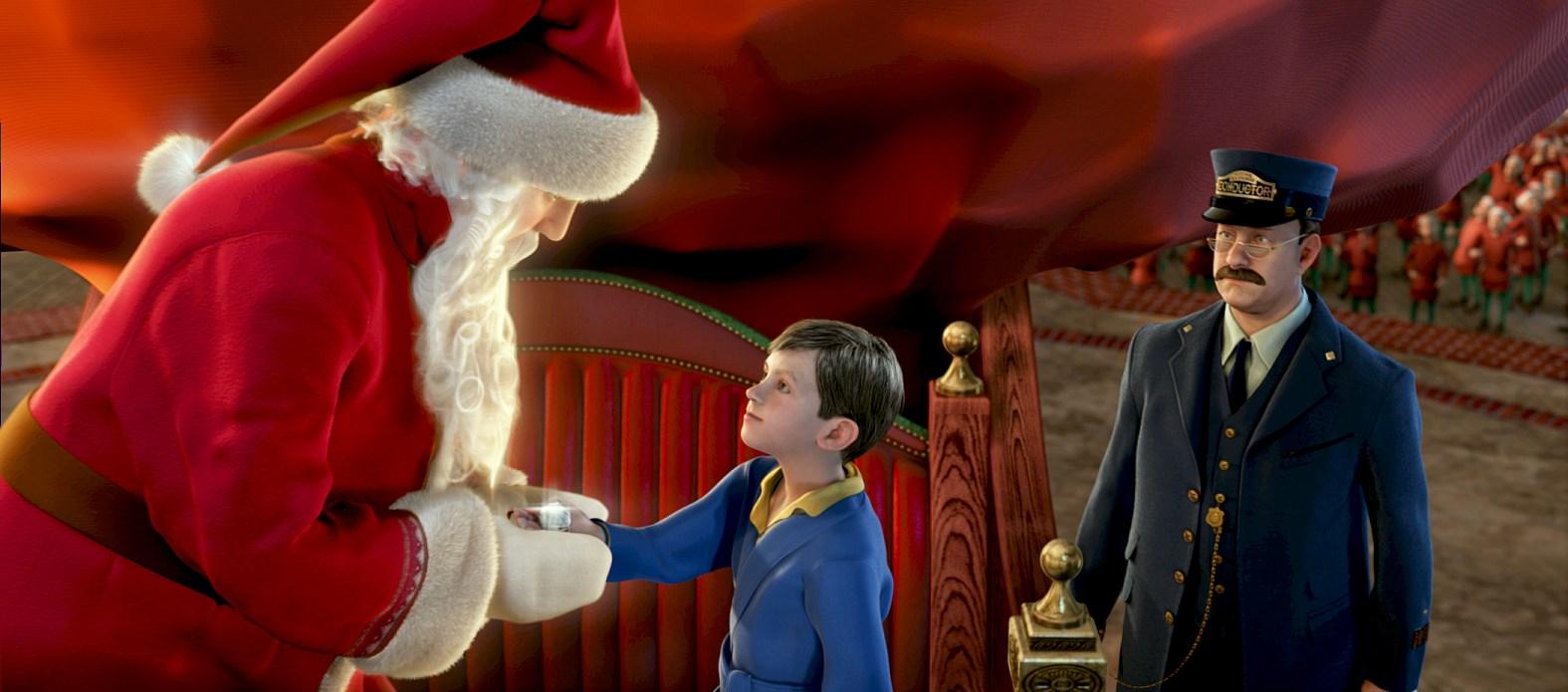 Boy meets Santa Polar Express 2004 disneyjuniorblog.blogspot.com