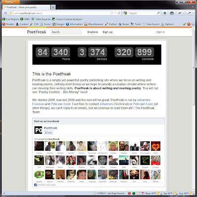 Screen shot of http://www.poetfreak.com/about.