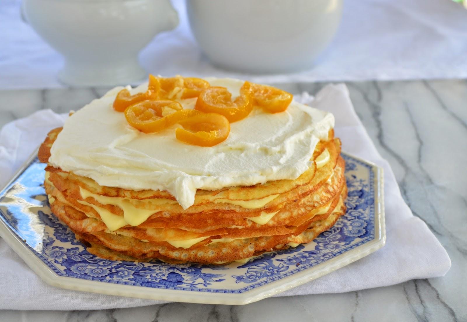 Crepe Cake wih Meyer Lemon Mousse - Smell of Rosemary.