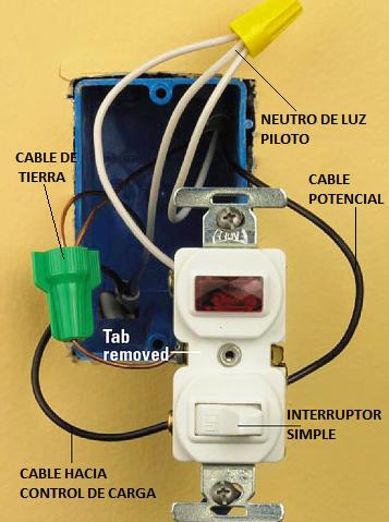 interruptor conexion: