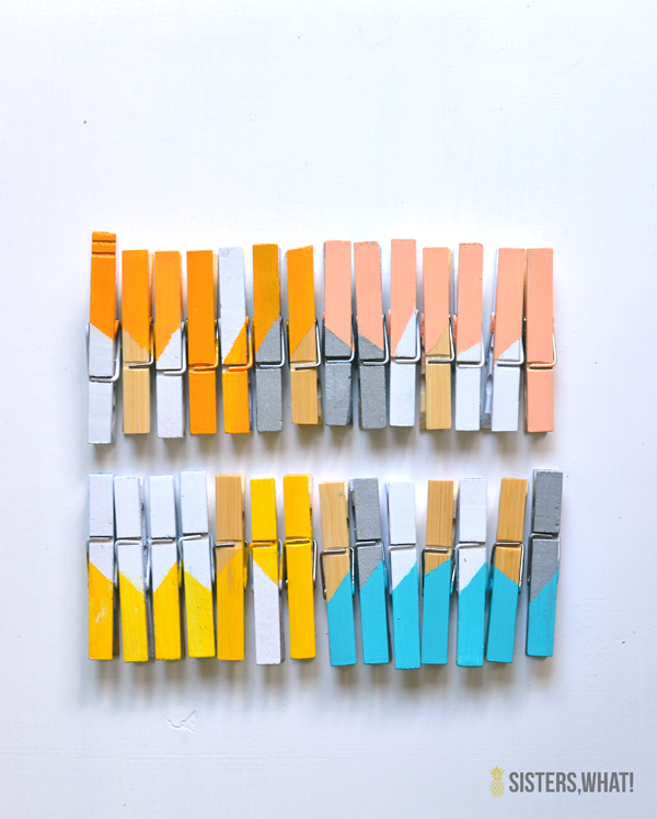 17 Best Images About Color Block On Pinterest: DIY Color Block Clothes Pins