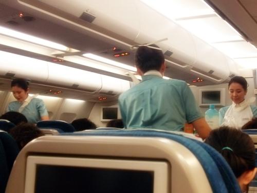 大韓航空 親切なCAさんが多く好印象