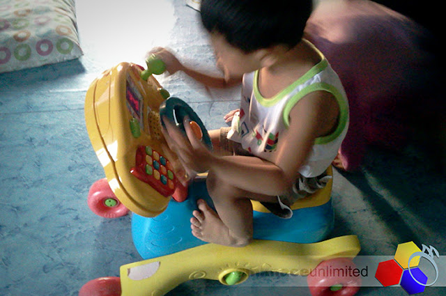 mknace unlimited | VTech grow and go ride-on system