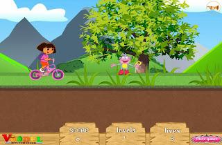 dora bike games