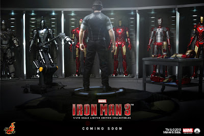Hot Toys Iron Man 3 1/6 Scale Figure Line Announcement - Tony Stark Mech Test v2 figure - Hall of Armor