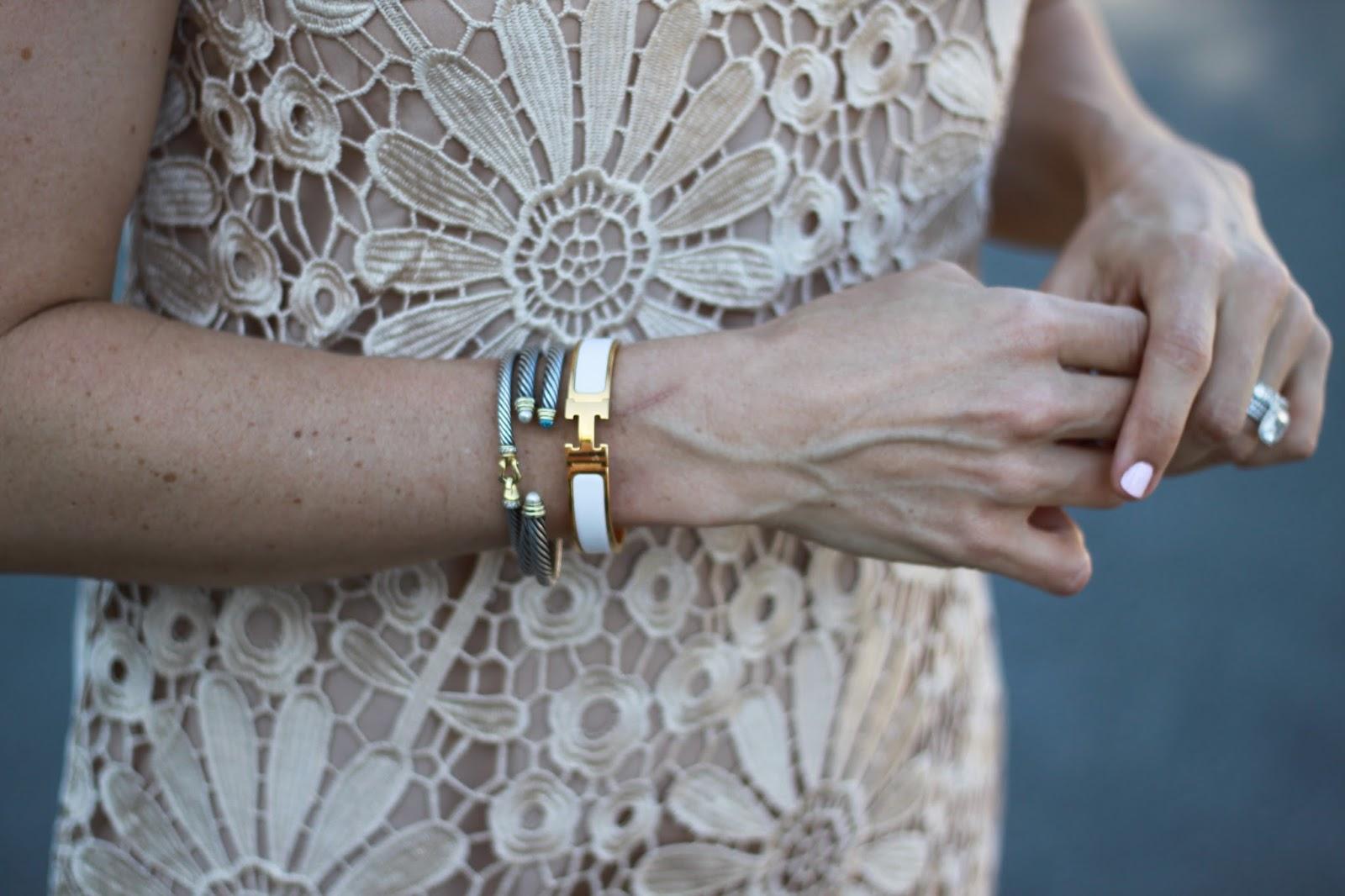 white hermes bracelet