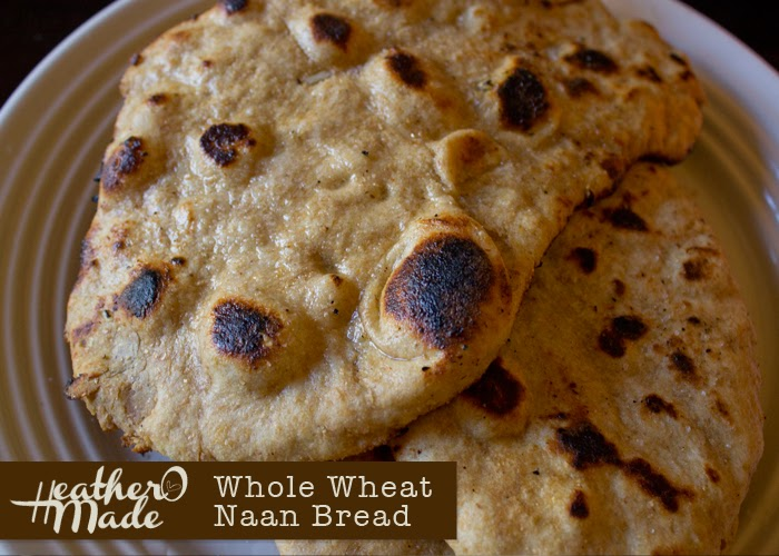 homemade whole wheat naan bread recipe