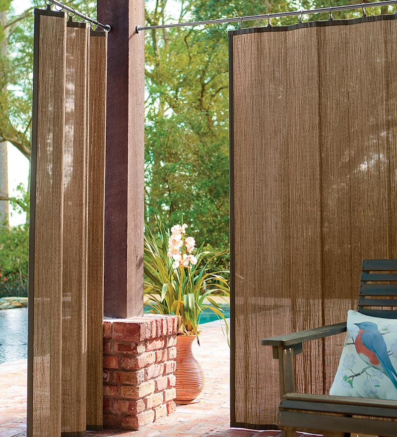 bamboo outdoor curtain bamboo products photo