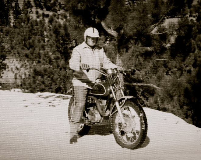 My Dad on his DT1 Yamaha.  We need one of these in our family.